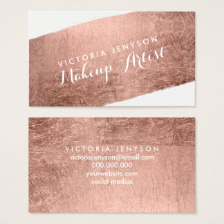 Modern rose gold brushstroke chic makeup artist