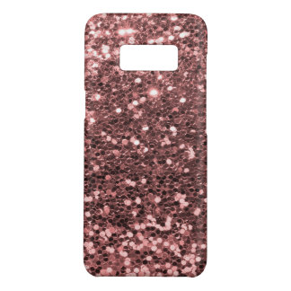 Modern Rose Gold Faux Glitter Print Case-Mate Samsung Galaxy S8 Case