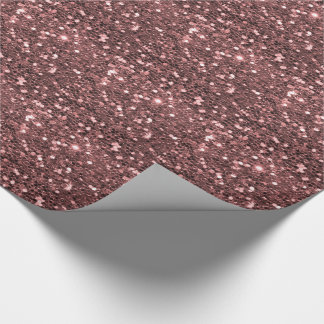 Modern Rose Gold Faux Glitter Print Wrapping Paper