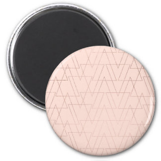 modern rose gold geometric triangles blush pink magnet