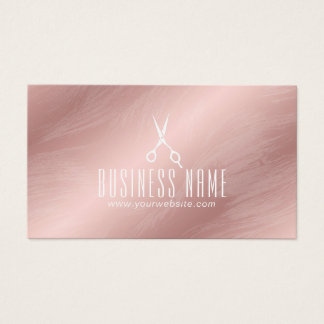 Modern Rose Gold Hair Salon Stylist Appointment Business Card