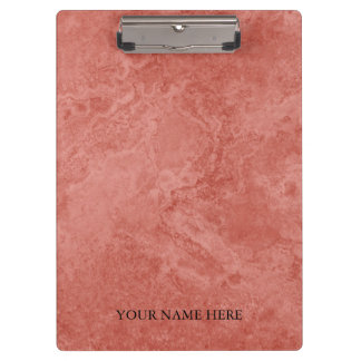 Modern Rose Gold Marble Designer Personalized Clipboard