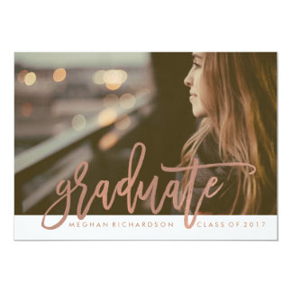 Modern Rose Typography | Photo for the Graduate Card