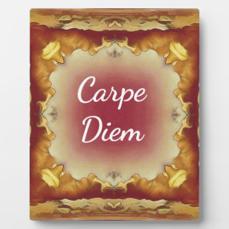 Modern Rose Yellow 'Carpe Diem' Artistic Pattern Plaque