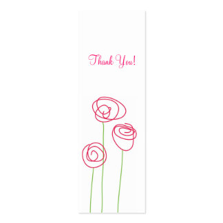 Modern Roses, Gift Tags Double-Sided Mini Business Cards (Pack Of 20)