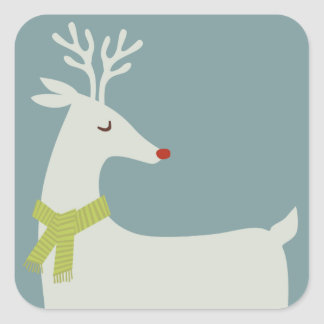 Modern Rudolph Reindeer Holiday Stickers