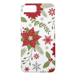 modern rustic Christmas flowers iPhone 8/7 Case