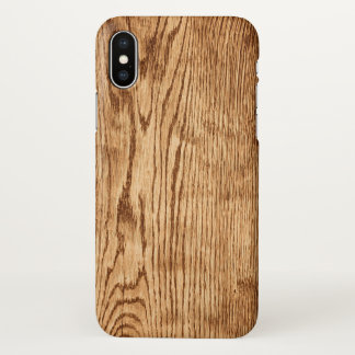 Modern Rustic Country Faux Wood Texture Zazzle iPhone X Case