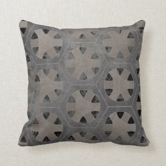 Modern Rustic Farmhouse Hexagon Hexagonal Pattern Cushion
