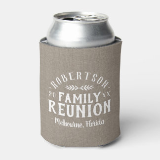 Modern Rustic Personalized Family Reunion Can Cooler