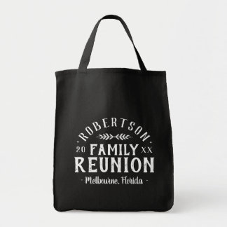Modern Rustic Personalized Family Reunion Tote Bag