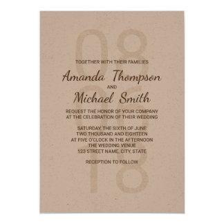 Modern Rustic Wedding Card