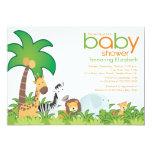 "Modern Safari Animals Baby Shower Invitation 5"" X 7"" Invitation Card"