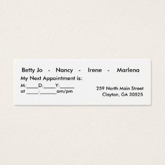 Modern Salon Mini Business Card
