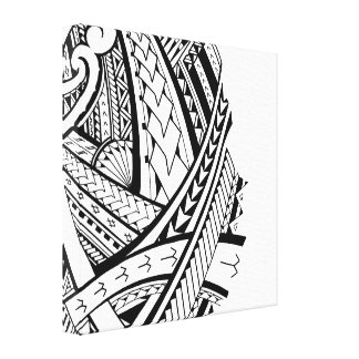 Modern Samoan tattoo art Canvas Print