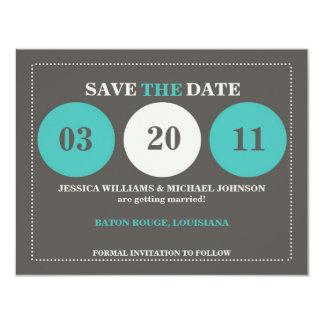 Modern Save the Date 11 Cm X 14 Cm Invitation Card