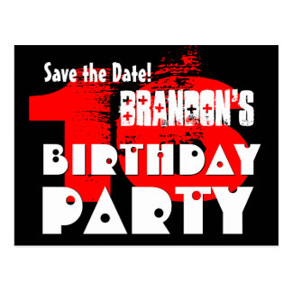 Modern Save the Date 16th Birthday Party V05 Postcard