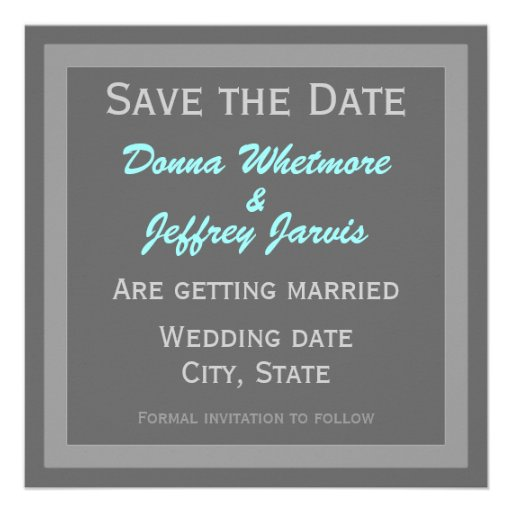 Modern Save the Date Announcement Grey
