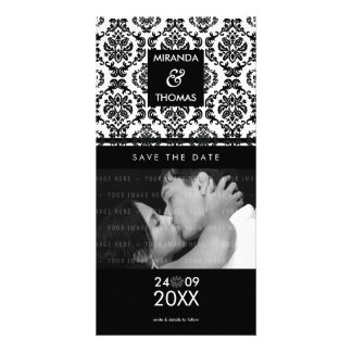 MODERN SAVE THE DATE CARD :: damask colors 10 Photo Cards