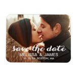 Modern Save the Date Magnet with Photo