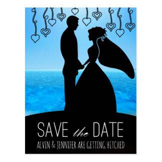 Modern Save the Date Ocean Aquatic Beach Postcard