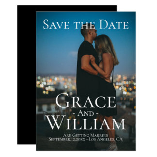 Modern Save The Date Personalised Photo Card