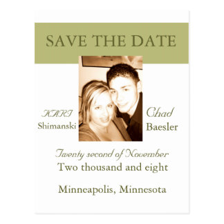 Modern Save the Date Postcard