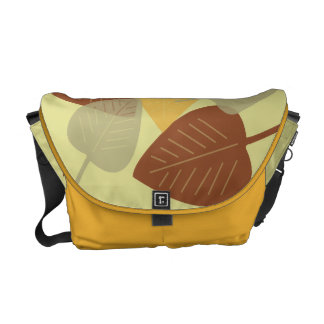 Modern scattered leaves yellow fall autumn fashion commuter bags