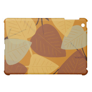 Modern scered leaves branch autumn fall fashion cover for the iPad mini