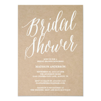 Modern Script | Bridal Shower Invitation