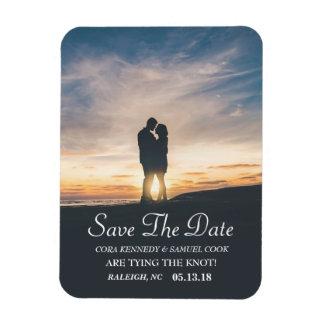 Modern Script | Custom Photo Save the Date Magnet