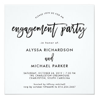 Modern Script | Engagement Party Invitation