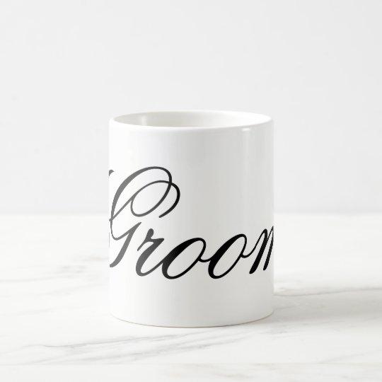 Modern script Groom Mug