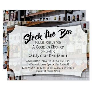 Modern Script, Photo Stock the Bar Couples Shower Card