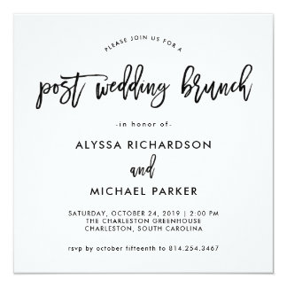 Modern Script | Post Wedding Brunch Invitation