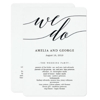 Modern Script Wedding Ceremony Program