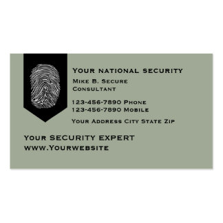 Modern Security Services Pack Of Standard Business Cards