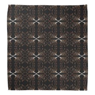 Modern Sepia Pattern Bandana