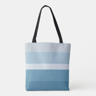 Modern shades of teal blue green colors stripes tote bag