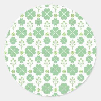Modern Shamrock Pattern Saint Patrick's Day Classic Round Sticker