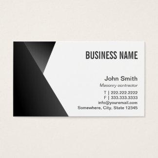 Modern Sharp Black & White Masonry Business Card