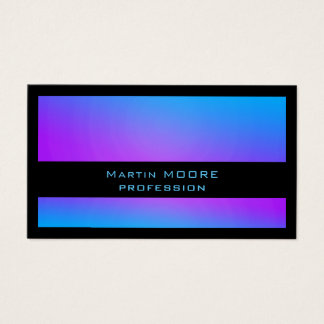 Modern shine metallic blue black business card