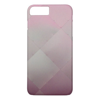 Modern Shiny Checkered Metal Pink iPhone 7 Plus Case