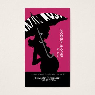 Modern Shower in Pink Business Card