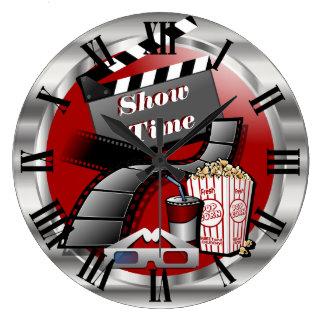 Modern Showtime Movie Theater Wallclock