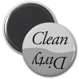 Modern Silver Clean or Dirty Dishes Magnets