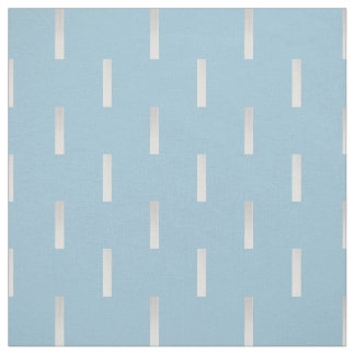 Modern Silver Dashed Line Pattern Blue Fabric