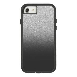 Modern silver glitter ombre grey black Case-Mate tough extreme iPhone 8/7 case
