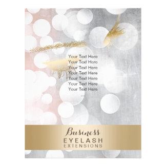 Modern Silver & Gold Eyelash Extensions Brochures