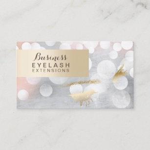 modern silver gold eyelash extensions business card - Eyelash Extension Business Cards